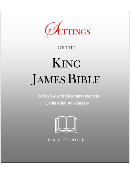 Settings of the King James Bible by G.A. Riplinger CD-Rom